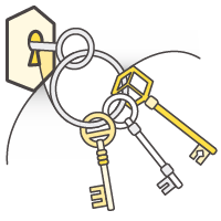 Key Management Service (KMS) manages your security keys and encryption